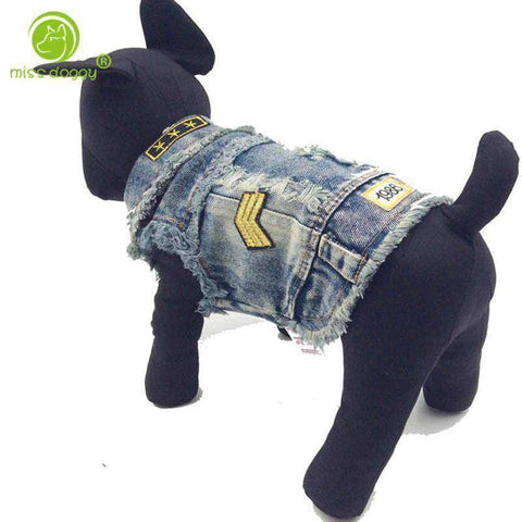"Veste en jean ""1986"" -  - Lovely bouledogue"