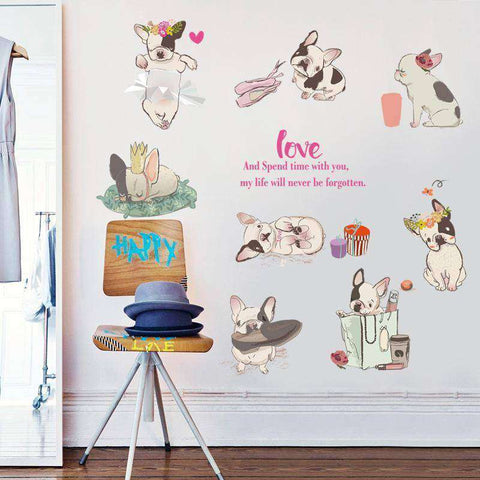 Image of Kit de stickers trop mignons -  - Lovely bouledogue