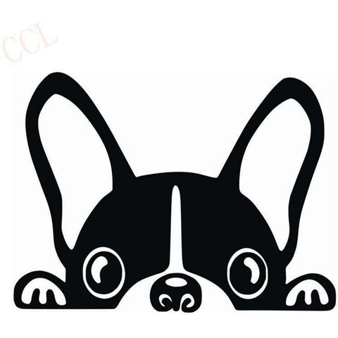 Stickers bouledogue français - noir / 8cm x 5cm - Lovely bouledogue