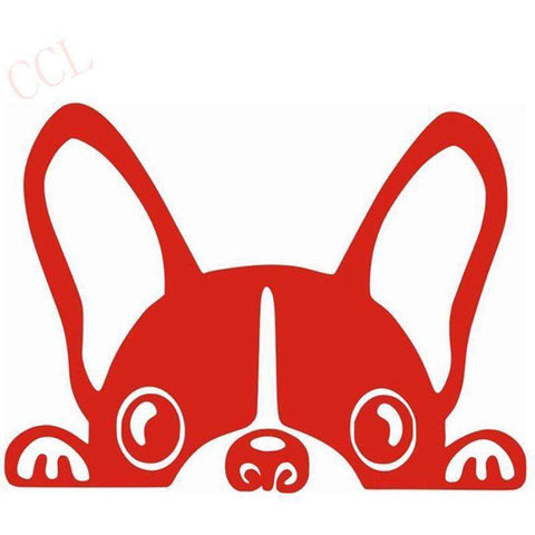 Image of Stickers bouledogue français - rouge / 8cm x 5cm - Lovely bouledogue
