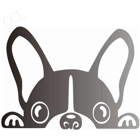 Stickers bouledogue français - gris / 8cm x 5cm - Lovely bouledogue