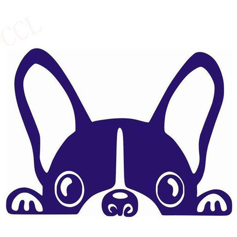 Image of Stickers bouledogue français - bleu foncé / 8cm x 5cm - Lovely bouledogue