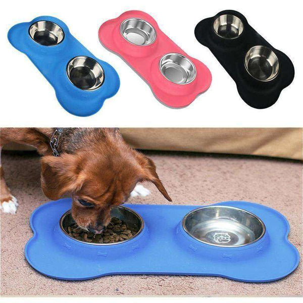 Gamelle inox et silicone anti-dérapante -  - Lovely bouledogue