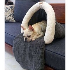 Coussin tunnel - Gris / S - Lovely bouledogue