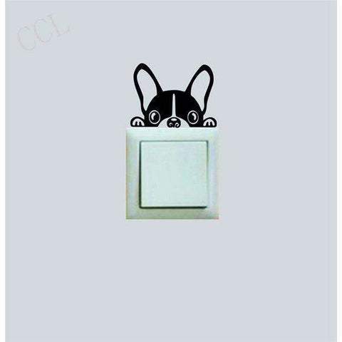 Stickers bouledogue français -  - Lovely bouledogue
