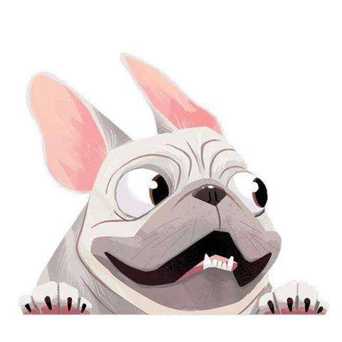 Stickers 3D - Blanc - Lovely bouledogue