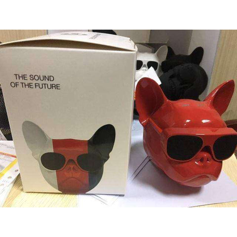 Image of Enceinte Bluetooth Bouledogue Français - Rouge - Lovely bouledogue