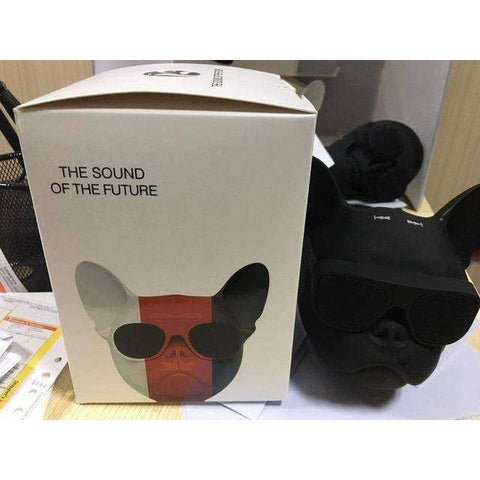 Image of Enceinte Bluetooth Bouledogue Français - Noir - Lovely bouledogue