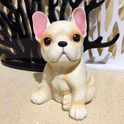 Image of Adorable Bouledogue Français en résine - Brun clair - Lovely bouledogue