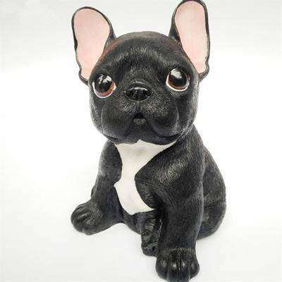 Image of Adorable Bouledogue Français en résine - Noir - Lovely bouledogue