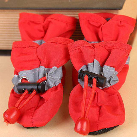 Chaussons antidérapant pour chien - Rouge / 1 - Lovely bouledogue