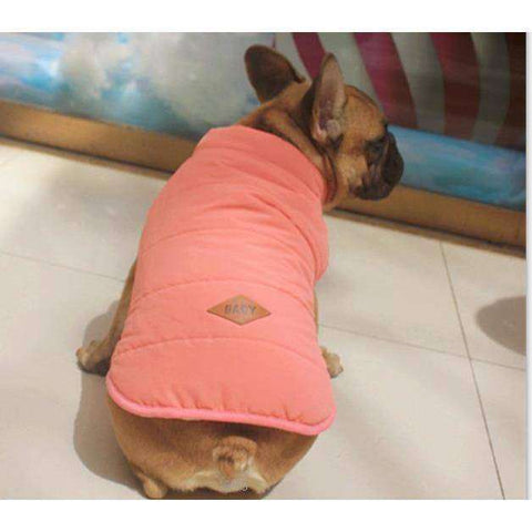 Image of Manteau d'hiver - Chaud et confortable - Rose / S - Lovely bouledogue