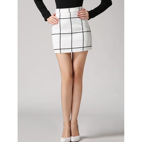 Check Bodycon Skirt - Ladies wishlist