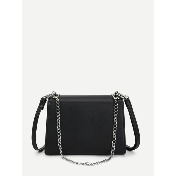 Flap Crossbody Bag With Chain Handle