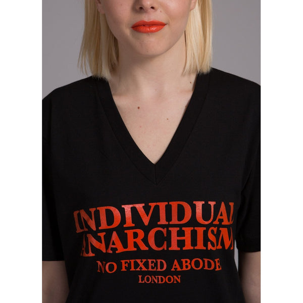 Fire Individual Anarchism T-Shirt V Neck
