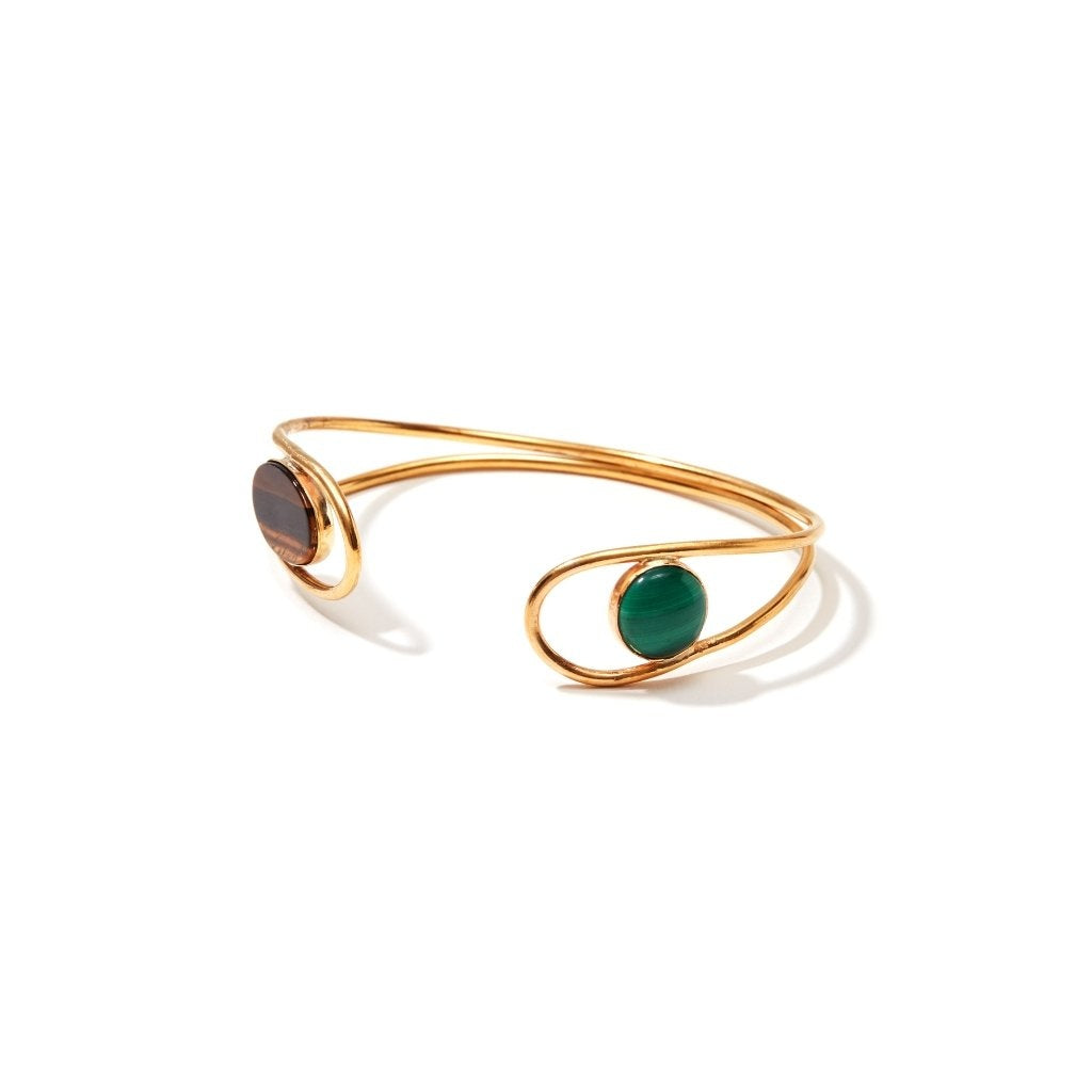 18K Gold Plated Gemstone Abstract Bracelet - Ladies wishlist