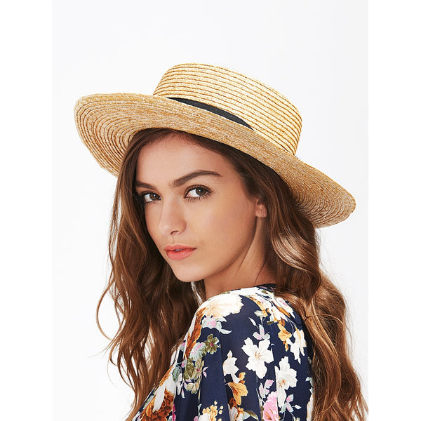 Bow Band Straw Boater Hat - Ladies wishlist