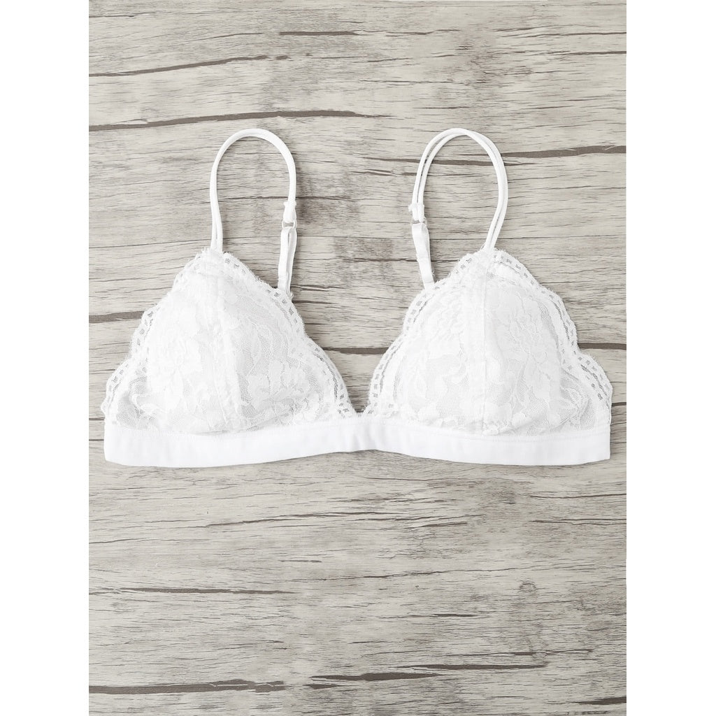 Adjustable Straps Lace Bralette - Ladies wishlist
