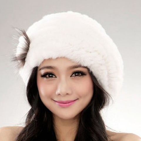 Genuine Rex Rabbit Fur Hat - Ladies wishlist