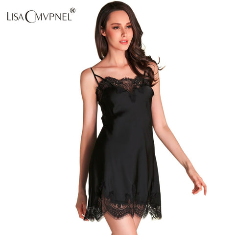 High Quality Brand;  Sexy Spaghetti Strap Nightgown