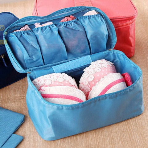 Portable Waterproof Bra Underwear Organizer Women Cosmetic And Travel Bag