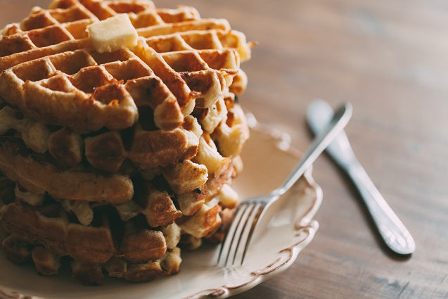 Breakfast Waffles for Valentine's Day