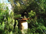Sandstone Plinth Bird Bath