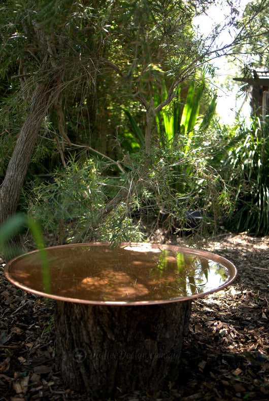 Large Spun Copper Dish Mallee Bird Baths And Water Bowls