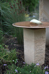 Sandstone Plinth Bird Bath Mini