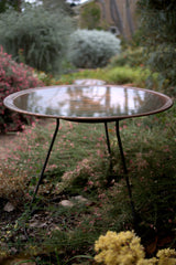 Floating Steel Stand with Medium Dish