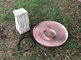 Water Feature Components for Large Spun Copper Dish
