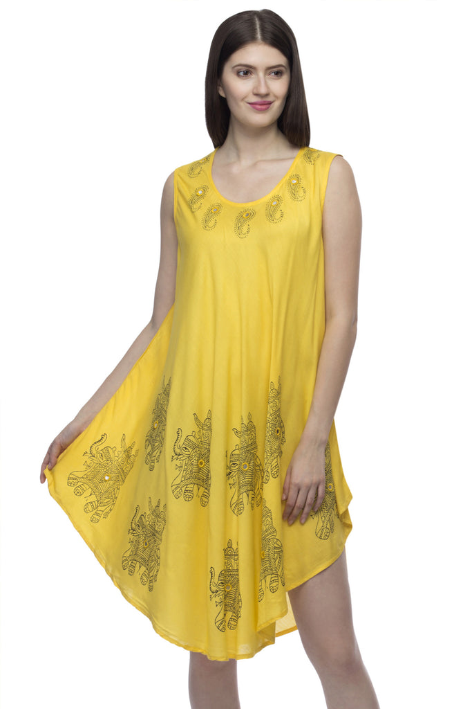 2345c48d9aa Buy Women s Viscose Yellow Dress at best prices in India