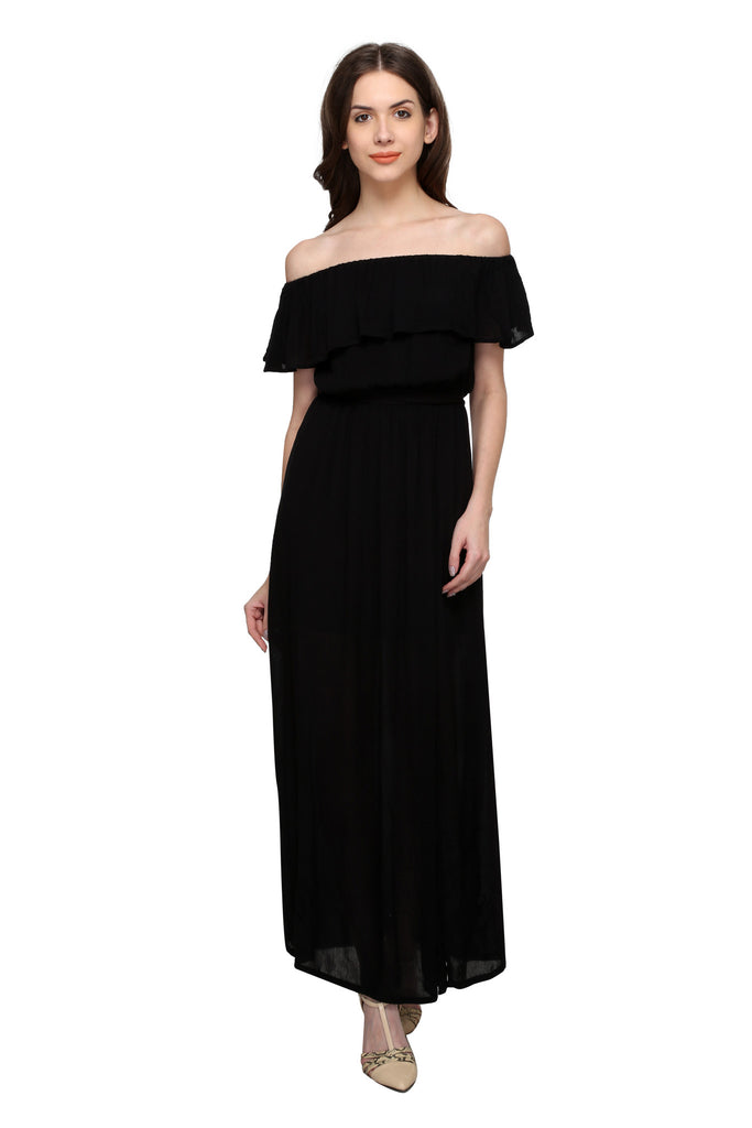7a9125777579 Buy Women s Viscose Black Dress at best prices in India