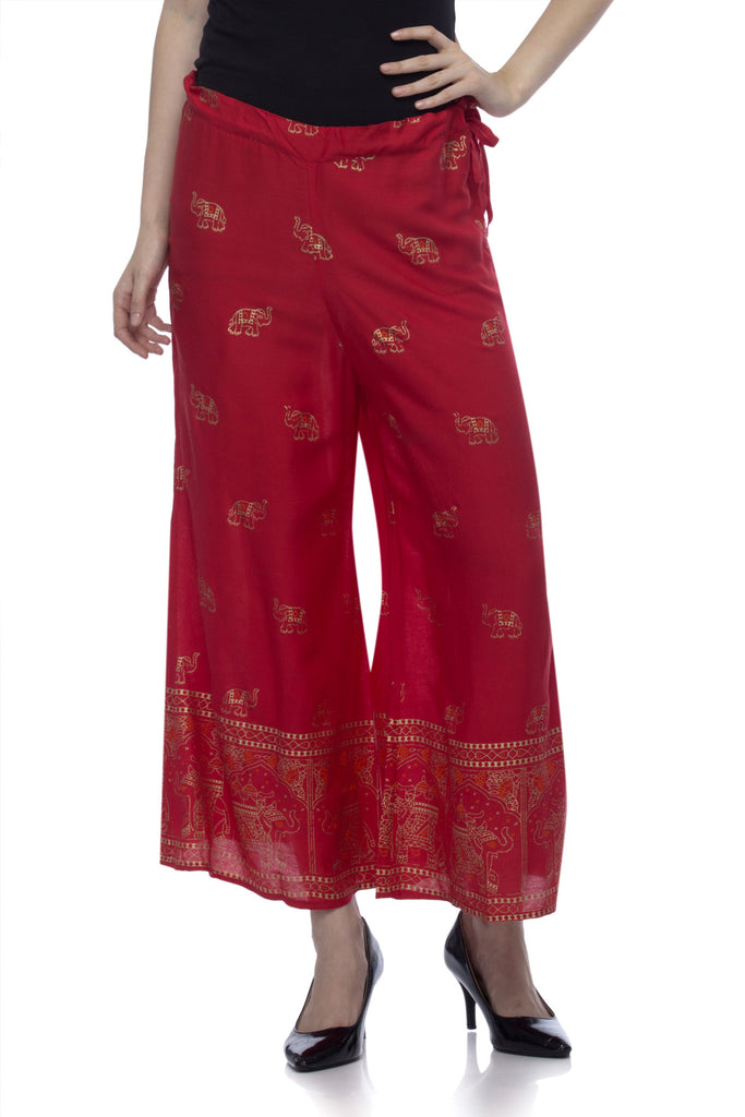 baca65a7292 Buy Women s Viscose Red Palazzo at best prices in India