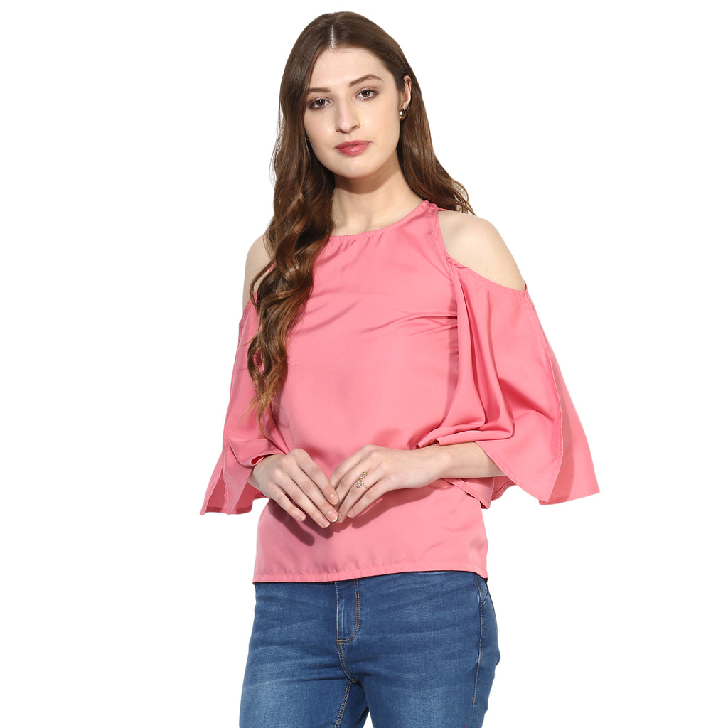 3b13dd1ab9918 Buy Women s Poly-Crepe Pink Tops at best prices in India