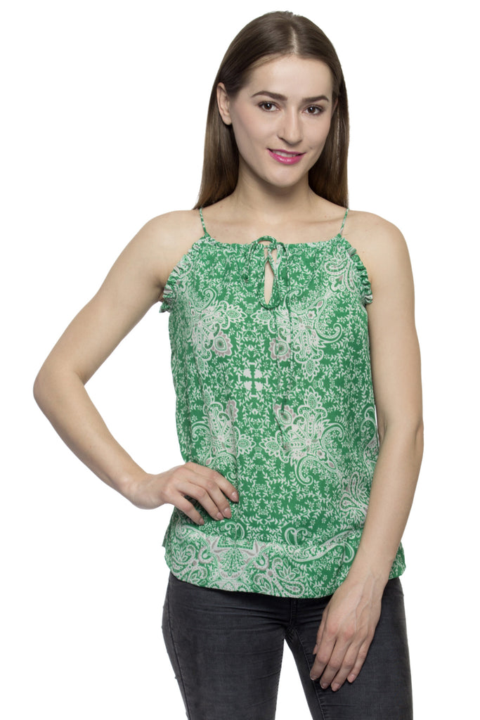 28c5cf5acfaa2a Buy Women s Polyester Green Tops at best prices in India