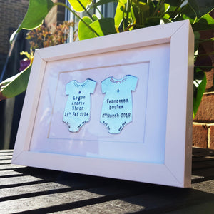 Stamped with Love - Baby Celebration Frame, handmade in Hampshire, UK