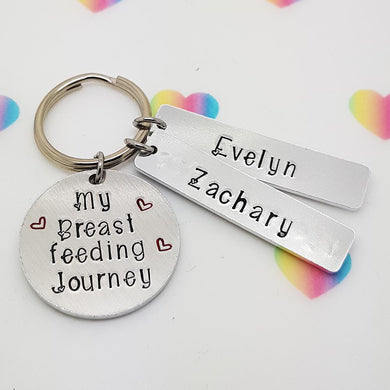 Stamped with Love - Breastfeeding Journey Keyring, handmade in Hampshire, UK