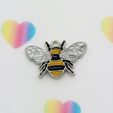 Stamped with Love - Bee Charm, handmade in Hampshire, UK