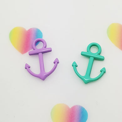 Stamped with Love - Coloured Anchor Charms, handmade in Hampshire, UK