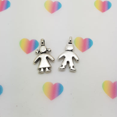 Stamped with Love - Boy and Girl Charms, handmade in Hampshire, UK