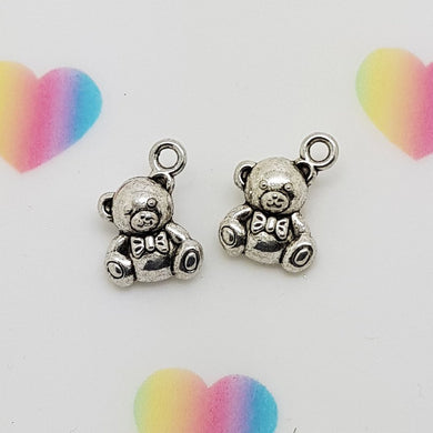 Stamped with Love - Teddy Charm, handmade in Hampshire, UK