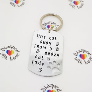 Stamped with Love - One Cat Away from Crazy, handmade in Hampshire, UK