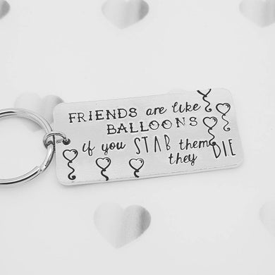 Stamped with Love - Friends are Balloons, handmade in Hampshire, UK
