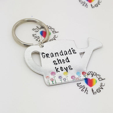 Grandad's Shed Keys - Stamped with Love