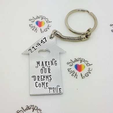 New Home Keyring - Stamped with Love