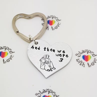 Stamped with Love - And Then We Were 3, handmade in Hampshire, UK
