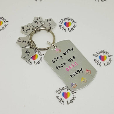 Stamped with Love - *Clearance* Step Away from the Cake Weight Loss Keyring, handmade in Hampshire, UK