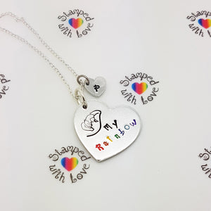 Stamped with Love - My Rainbow Necklace, handmade in Hampshire, UK