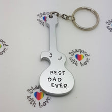 Stamped with Love - Guitar Bottle Opener, handmade in Hampshire, UK